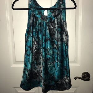 New York and Company Teal Multi Halter Top